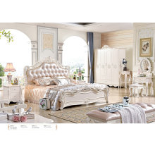 2016 Luxury King Size Wood Bedroom Furniture Set/French Style Bed (6602)