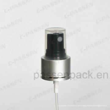 Bomba de pulverización de niebla de aluminio y plástico para botellas pulverizadoras (PPC-SP-001)