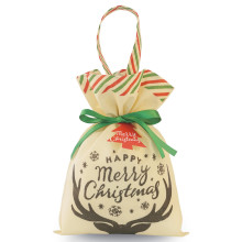 Christmas Black Deer Drawstring Non-woven Packing Pouch