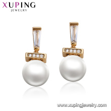 95124 xuping fashionable pearl earring designs luxury 18k gold accessories for women jewelry