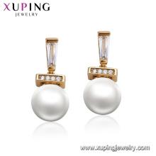 95124 xuping модный жемчуг серьги дизайн роскошный 18 к золото аксессуары для женщин ювелирные изделия
