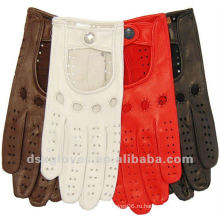 Женские кожаные перчатки с отверстиями