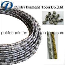 Scie à fil diamanté en béton armé de granit de marbre
