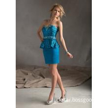 Latest Fashion Style Chiffon Sequin Party Dresses (PAD0006)