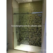 Puerta de ducha de cristal interior sin marco para el baño del hotel