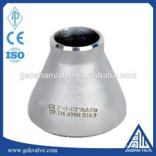 Redutor concêntrico em aço inoxidável 316