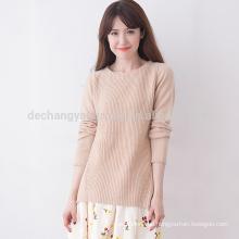 heißer Verkauf maßgeschneiderter Hals Design für Tops Pullover Design für Mädchen