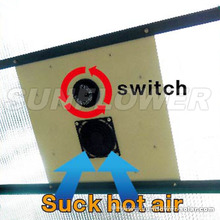Ventilateur thermostatique solaire