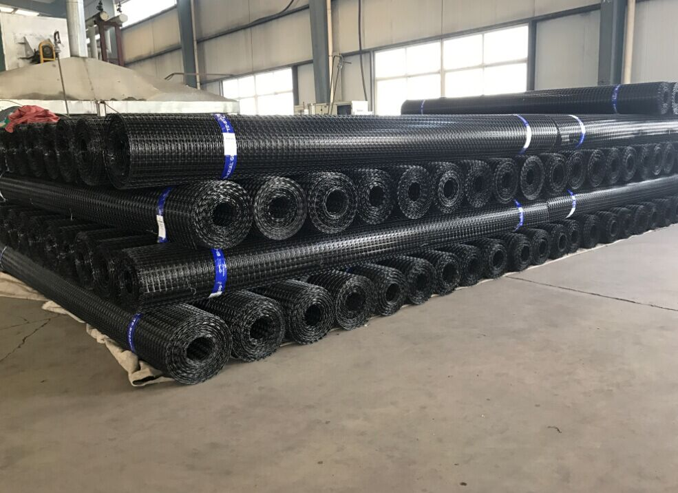 Warp Kintted Polyester đơn trục Geogrid