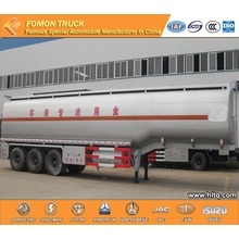 3 axles liquid food transport semi trailer(stainless steel)