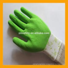 13 Gauge Printed Polyester Foam Latex Coated Glove Latex Gloves
