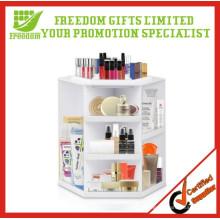 Nouvelles boîtes de rangement cosmétiques pivotantes de table design