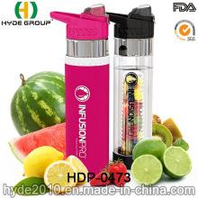 700ml BPA-freien Kunststoff Obst-Infusionsflasche, neu Tritan Trinkflasche (HDP-0473) angepasst