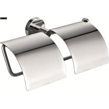 Soporte de papel de baño doble de latón
