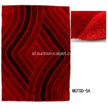 Soft & Silk Shaggy 3D Carpet dengan Microfiber
