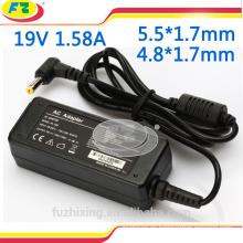 Mini adaptador para asus 19v 1.58a cargador adaptador de corriente portátil