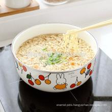 noddle and rice enamel ice bowl
