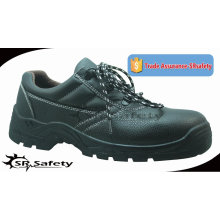 SRSAFETY 2015 industrial safety shoes emboss cow split leather safety shoes black steel safety shoes
