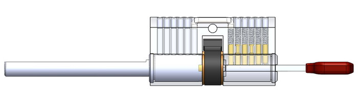 Spindle side computer cylinder
