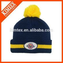 wholesale custom acrylic slouch beanie winter hat with pom