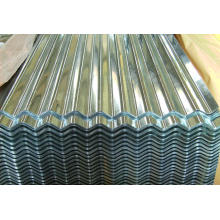 Materiais de construção de construção de matérias-primas, cor zinco chapas de metal corrugado folha