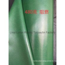 Military Green 480 GSM PVC Tarpaulin with Fire Retardants