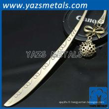 Exqusite fancy bookmark associe les pendentifs métalliques