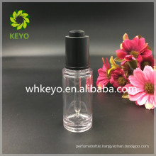 30ml transparent thick wall PETG dropper bottle with pipette