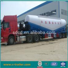 China Dry cement powder truck trailer 3 axles bulk feed silo semi trailer for sale