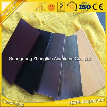 Garniture de carrelage en aluminium 6063 T5 avec accessoires de revêtement de sol