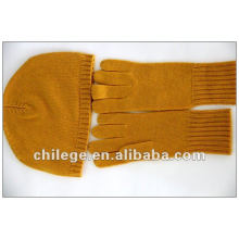 100% cashmere glove and hat