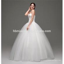 El último diseño hip-huggers piso longitud cola de pez vestido de novia 2016 sirena