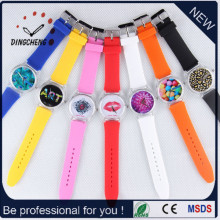 Fashion Long Silicone Band imperméable rétro quartz montre bracelet (DC-1204)