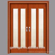 Barato HDF puerta de madera de diapositivas HDF melamina
