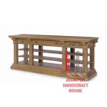 Table console en bois avec support