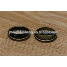 Botón de presión de metal personalizado para cuero con dos agujeros