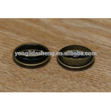 Bouton-pression en métal personnalisé pour cuir avec deux trous
