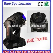 Estágio dmx 17r 350w feixe spot lavagem sharpy feixe movendo cabeça luz