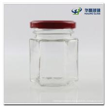 100ml Hexagon Candy Glass Mason Jar Hj489