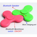 Moda falante Bluetooth Fidget Hand Fidget Spinner com luz LED