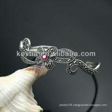 Luxurious antique design bangle silver friendship bracelets
