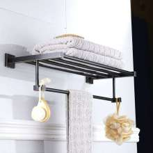 Pendente de hardware de banheiro bronze preto artesanal de latão material de hardware quadrado pendant toalheiro