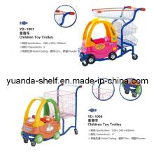 Carros de la carretilla de las compras del bebé de los niños del supermercado con la silla