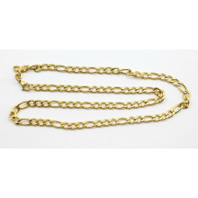 Fashion Gold Plated Stainless Steel Figaro Chain