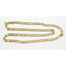 Moda banhado a ouro em aço inoxidável Figaro cadeia