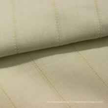 Tissu 100% coton à rayures pour hauts pour dames