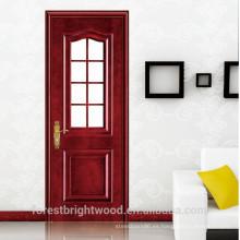 Venta caliente Nuevo Diseño Artesano Entrada Puertas francesas con vidrio de seguridad