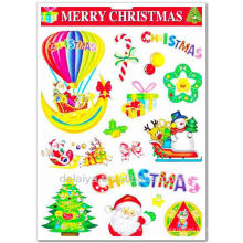 Рождество стикер стены для детская комната украшения