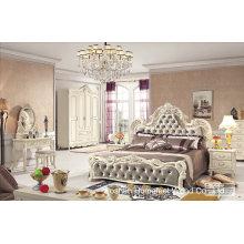 China Großhandel antiken hölzernen Schlafzimmer-Set (HF-MG017)