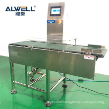 Conveyor check weighers with pusher rejector